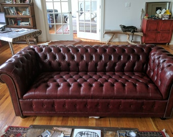 Not Available SOLD Leather Chesterfield Sofa