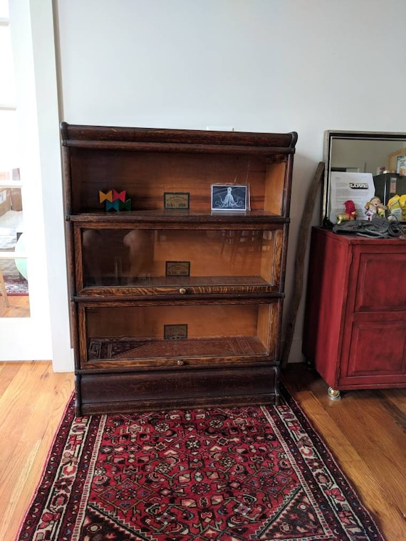 Sold Not Available Globe Wernicke Bookcase 3 Section Barrister Stacking Bookcase