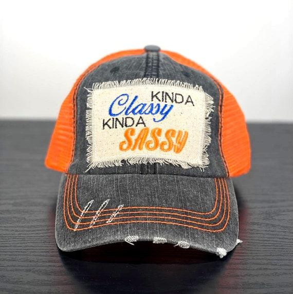 Embroidered Kinda Classy Kinda Sassy Hat for Women