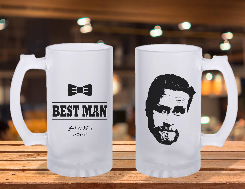 Frosted Stein Mug Groomsman Gift Groomsman Beer Mug Wedding Party