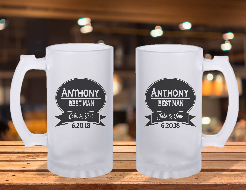 Frosted Stein Mug Groomsman Gift Ideas Groomsman Beer Mug Wedding