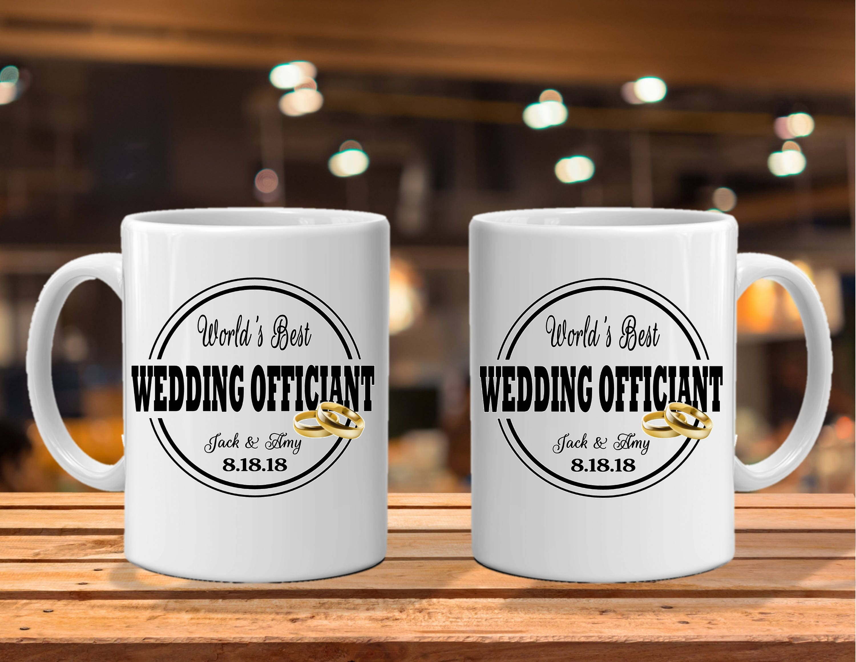 Yoda Best Wedding Officiant Engraved Tumbler