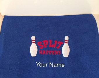Bowling League Towels Bowling Towel Towel Monogrammed Gifts Personalized Sports Towel