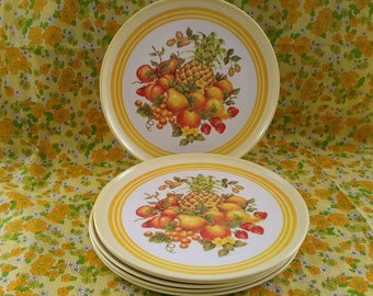 Lexington Fine Melamine Dinnerware, Set of Six Vintage Plates