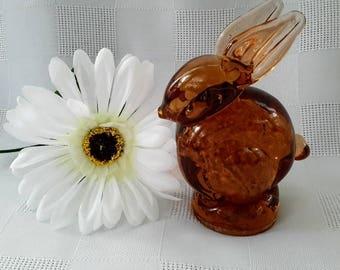 Altaglass Medicine Hat Alberta Art Glass Rabbit Figurine