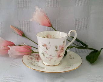 Royal Albert Breath of Spring, For all Seasons Series, Teacup and Saucer Set, Made in England
