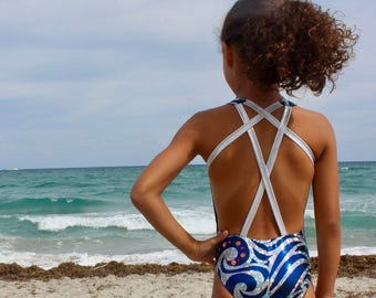 Synchronized swimming costume, custom made swimsuit.
