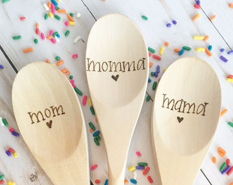 Personalized Wooden Spoons, Bridal Party, Hostess Gift, Wedding Gift, Wedding Shower Gift, Birthday, Mom Dad, Kitchen, Baking, Cooks, Bakers