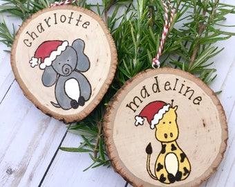 Personalized Christmas Ornament, Custom Name,  Christmas Gifts, Engraved Ornament, Christmas Decoration, Christmas Decor, Ornaments