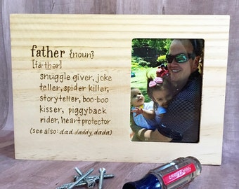 Father's Day Picture Frame, Dad, Daddy, Gifts for Him, Grandfather, Father's Day Gifts, Personalized Gifts, Unique Gifts, Wood Frame