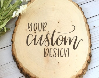 Custom Oval Wood Burned Plaque, Hand painted, Hand lettered, Wedding Gift, Anniversary Gift, Housewarming Gift, Monogram