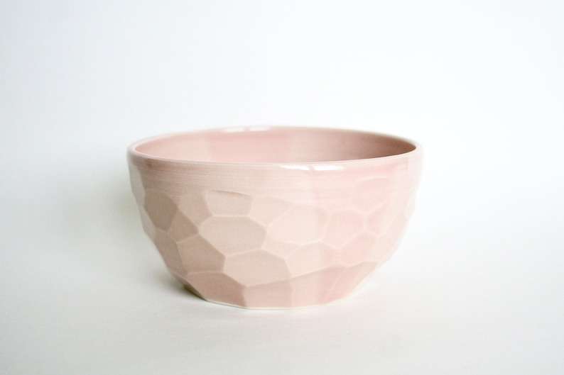 Ceramic Bowl Pottery Bowl Side Bowl Handmade Bowl Pink image 0