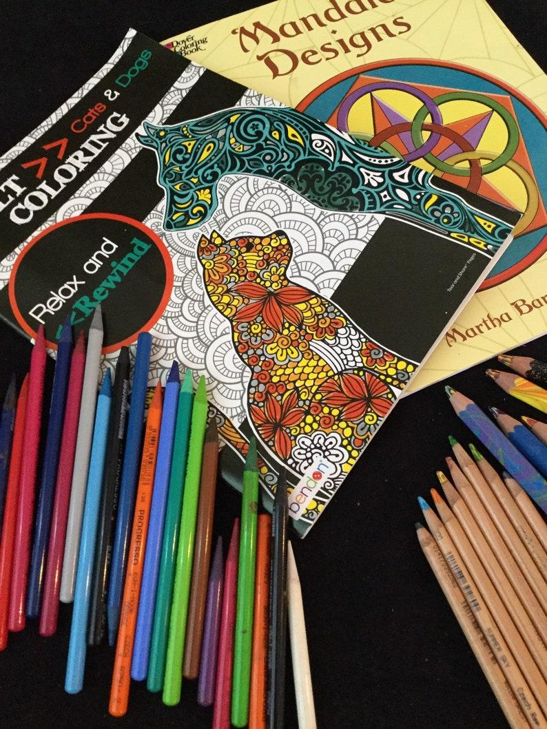 Free Shipping Adult Coloring Books Bulk Wood Color Pencils Tri Tone Color Pencils