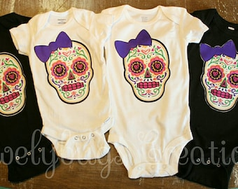 Toddler Baby Girl Sugar Skull with Roses and Flag of Puerto Rico Funny Short Sleeve Cotton T Shirts Basic Tops Tee Clothes
