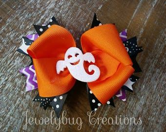 Halloween ghost bow!