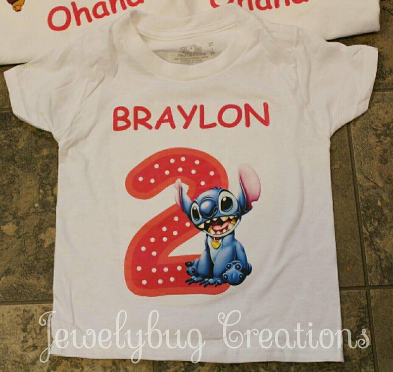 Lilo And Stitch Birthday Shirt Boy