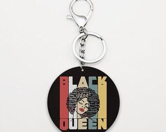 Acrylic Keychain African American Black Girl Magic Key Chain Black Magic Woman Black Woman Empowerment Gift