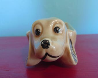 Vintage Ceramic Wiener Dog Tray/Holder