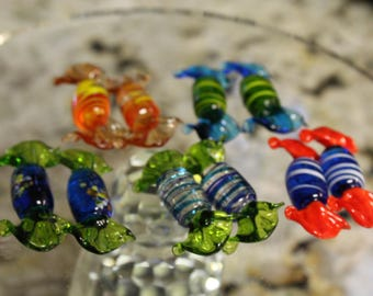 10 glass wrapped candy's New..
