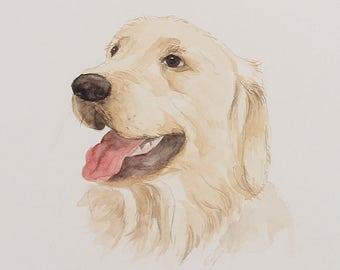 Custom pet portrait. Original watercolor painting. Dog portrait. Pet portrait. Pet portrait comission. Dog lover. Dog art, Dog Lover Gift