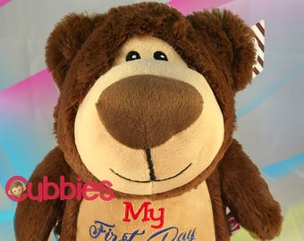 Personalized Stuffed Animal - Teddy Bear - Cubbies - Birth Announcement - Personalized Gift - Birthday Gift- Back to School
