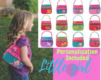Personalized Girls Quilted Purse - Toy Bag - Stephen Joseph - Toddler Purse  - Personalized Birthday Gift - Girls Purse 6063969acf