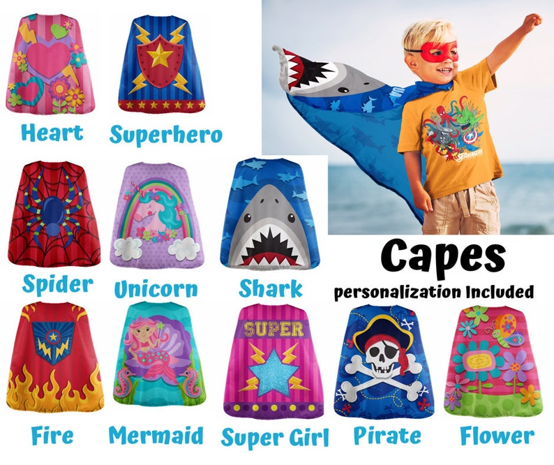 Kids Personalized Cape - Girls Cape - Boys Cape - Kids Playtime Cape -  Superhero Cape - Personalized Childrens Gift - Toddler Cape