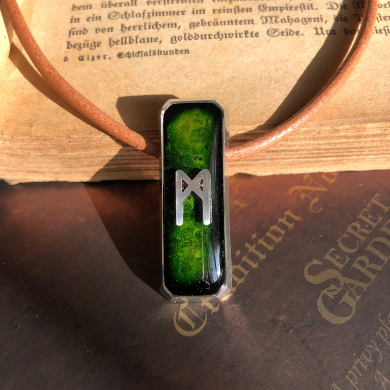 Rune Mannaz Self-confidence in professional and personal qualities Mannaz Rune Pendant Human