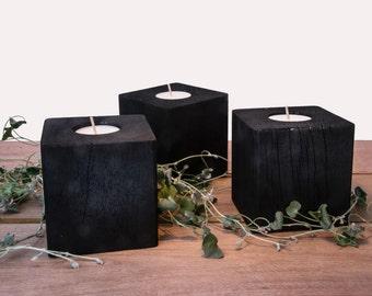 Charred Hardwood Candle Cubes