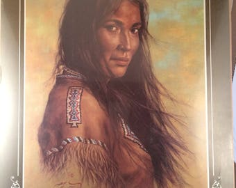 Vintage Bill Hampton Native American print