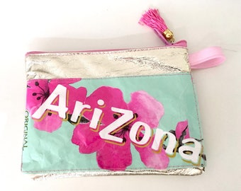 Pouch-makeup Bag-Upcyling-Arizona Green Tea