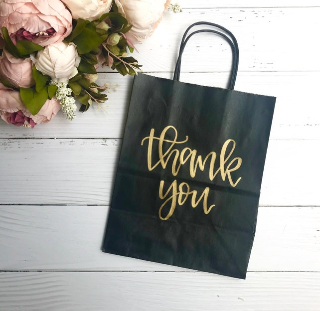 Thank You Gift Bags Craft Paper Bags Gift Bags Wedding Gift Bags