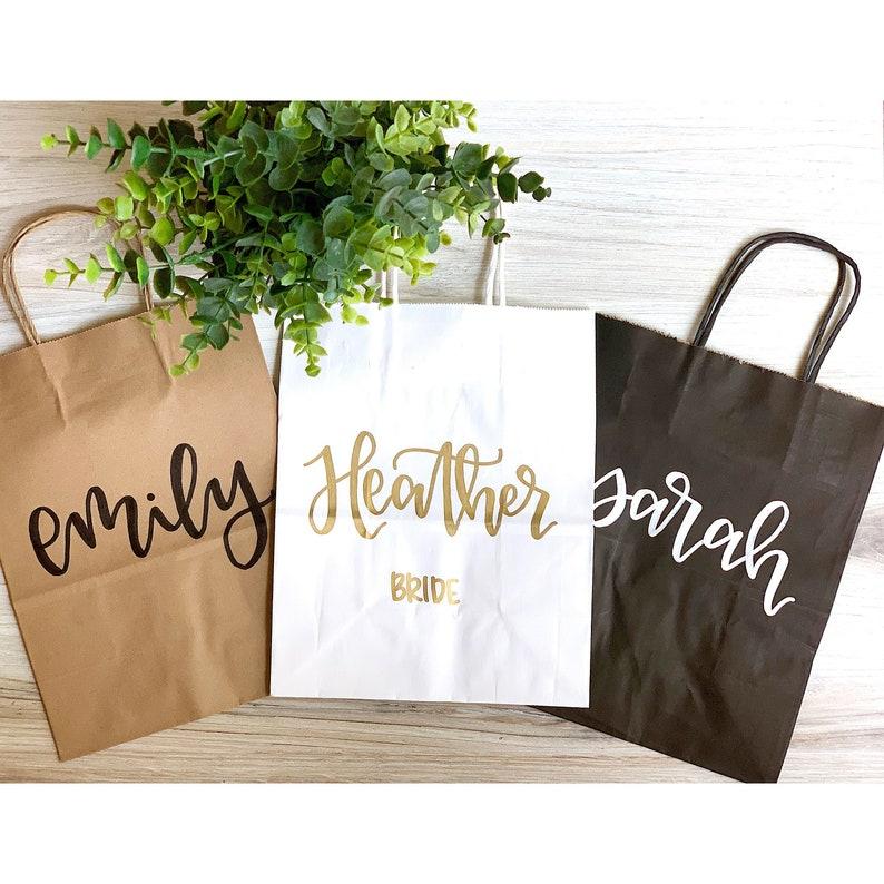 BEST SELLING Custom name gift bags  bridesmaid gift bags image 0