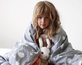 Organic duvet cover / Kids bedding / Single bed duvet cover / Pink bedding / Boys and girls duvet cover / Pink bed linen