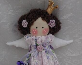 princess doll,textile doll,cloth doll,fairytale,gift,girl room decor,handmade,tilda doll,birthday,princess and rhe pea doll,rag doll,little