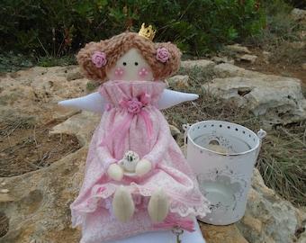 Wandbehang Prinzessin auf der Erbse,nachTilda-Art,Puppe,Engel,Kindergeburtstag