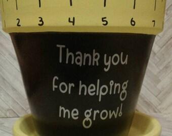 End of year teacher gifts- Thank you for helping me grow flowerpot- Thank you teacher gift- Teacher appreciation- Prek- Kindergarten teacher