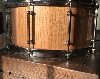 """Red Oak Stave Snare. 14x7"""""""