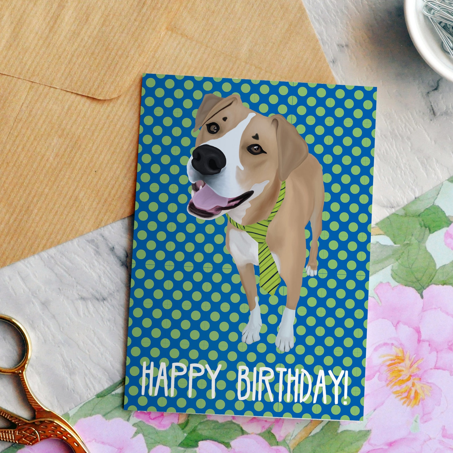 Mixed Breed Dog Birthday Card