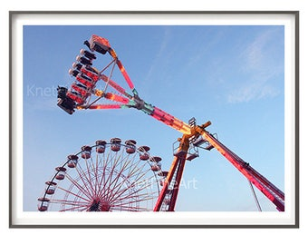 Child & Nuresery Decor, Ferris Wheel Art, carnival photography, printable art, kids room decor, nursery decor, instant download