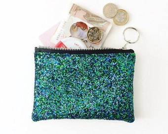 Glitter Coin Purse Teen gift Tassel Bridesmaid gift Girl Gift Bridal Party Gift Cha-Ching Coin Purse with Tassel Coral Coin Purse