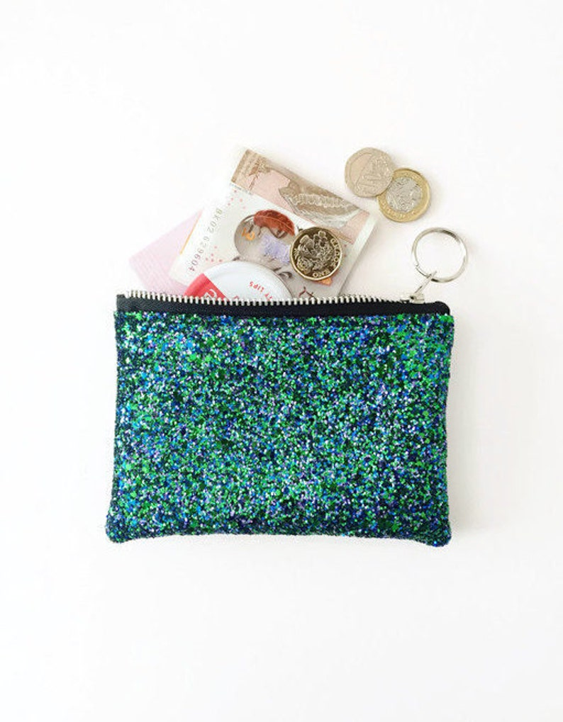 97ee3585741 Glitter Coin purse Oyster Card Holder Coin Purse Glitter | Etsy