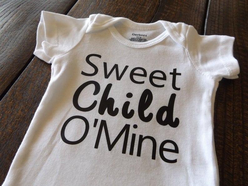783f8f513bc5 Sweet Child O'Mine Onesie Bodysuit Baby Infant Clothing | Etsy