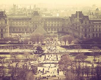 Jardin des Tuileries Paris,Paris Photography,Louvre,Tuileries Garden,Parisian Print,Parisian Art,People Wall Art,Panorama,Panoramic Wall Art