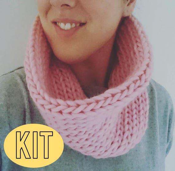 DIY Snood stricken Kit Anfänger stricken Kit glatte Snood | Etsy