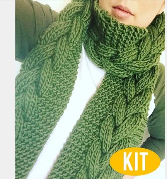 Écharpe en tricot de câble câble tricot grosse écharpe   Etsy 09bc35f3fe5