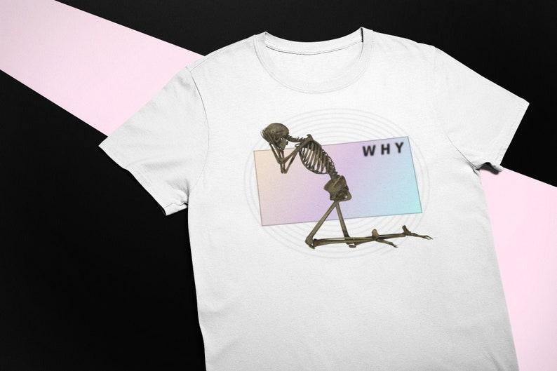 Vaporwave Skeleton Shirt Sad Boy Aesthetic Clothing Skull ...