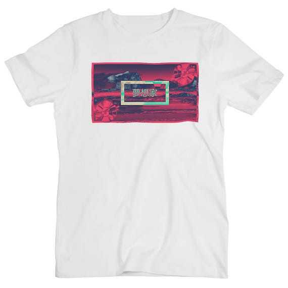 Vaporwave Aesthetic Japanese Blood Red Space Japan Planet Etsy