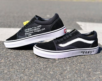 Customized Off White Vans Shoe Old Skool