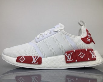 0bc26579a adidas nmd custom shoes gucci bee style paint louis vuitton mens womens  black color athletic run sneakers and custom laces and regular laces
